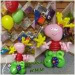 Свинка Пеппа с тремя шарами