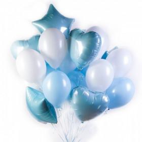Бело-голубое облако из шаров