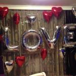 """Оформление и шаров """"LOVE"""""""