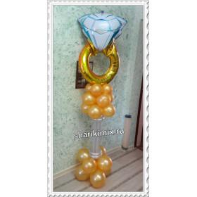 Кольцо на стойке из шаров