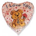 """Сердце """"Влюбленный медвежонок"""""""