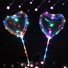 Светящийся шар сердце на палочке