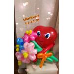Валентинка с цветами