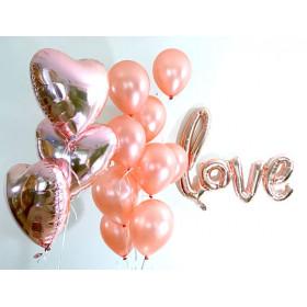 """Оформление из шаров """"LOVE"""""""