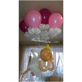 Ангелочек с шарами для девочки