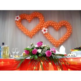 """Два сердца """"Оранжевое настроение"""""""